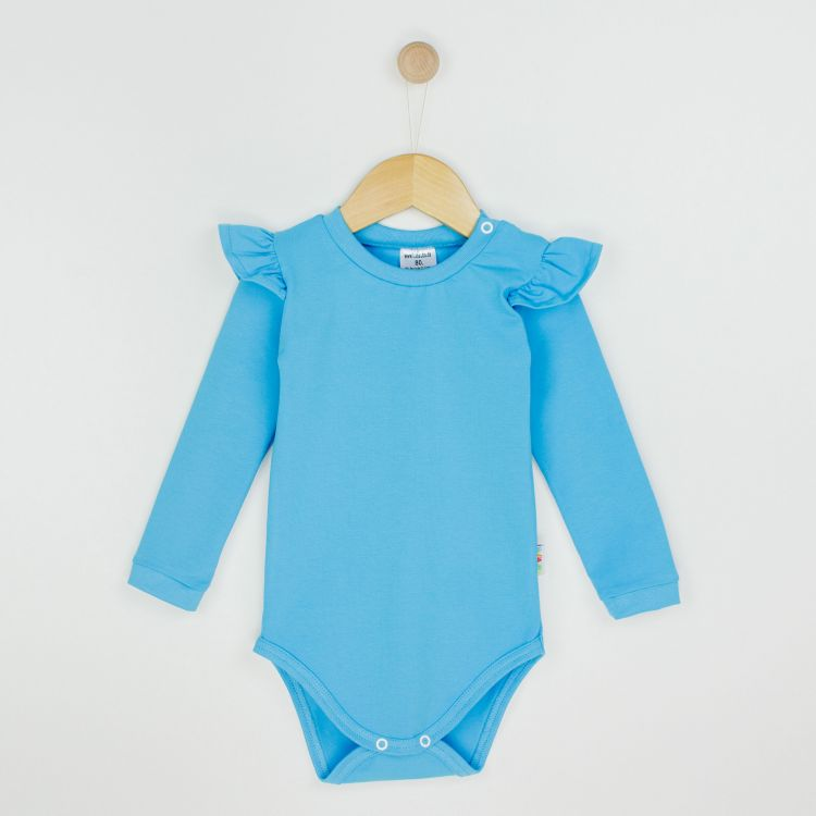 Baby-Uni-Volantbody - Azurblau
