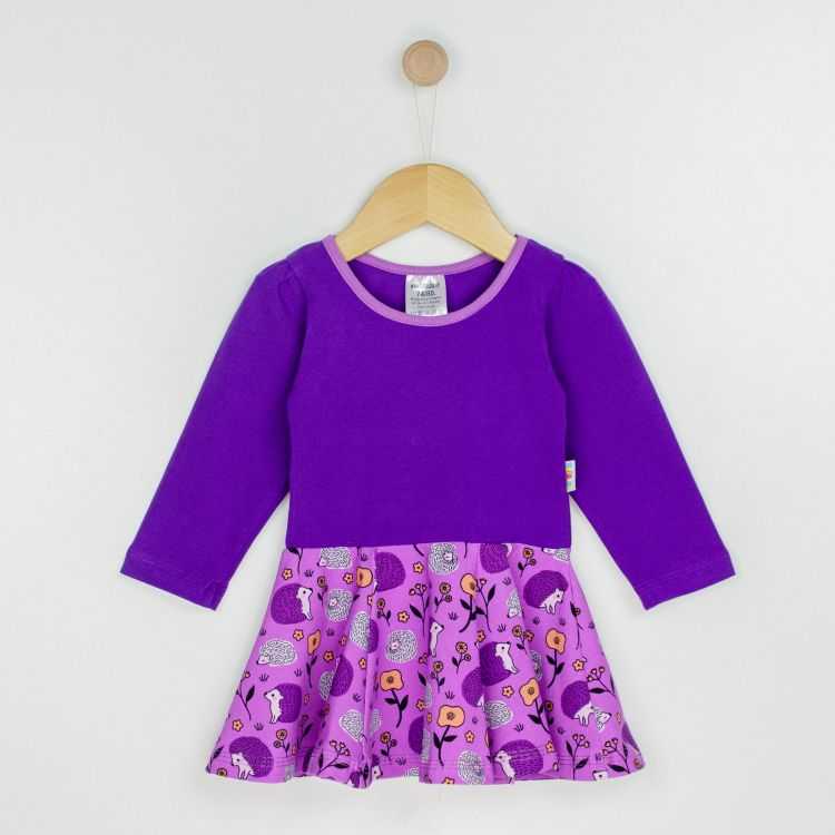 Langarm-Drehkleidchen SweetHedgehogs-Purple
