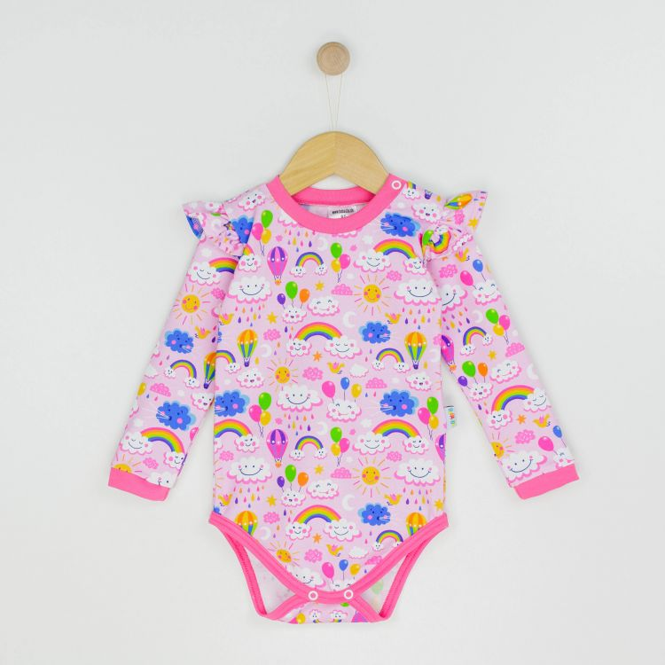 Baby-Volantbody - RainbowsAndClouds-Pink