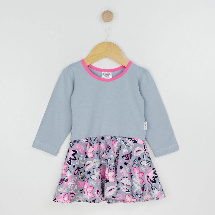 Baby-Langarm-Drehkleidchen - PaisleyFlowers