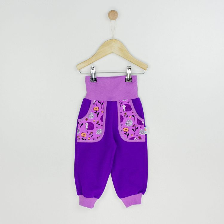 Kids-CoolPocketPants - SweetHedgehogs-Purple