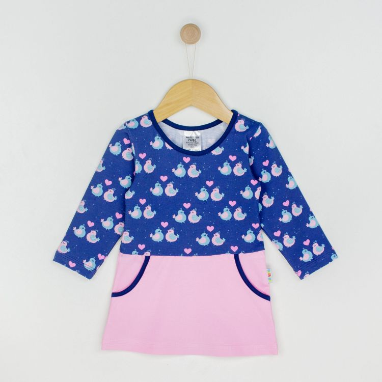 Kids-Langarm-PocketDress - BirdLove