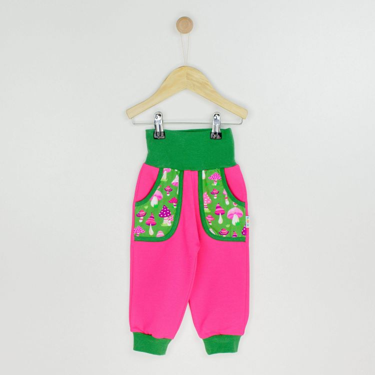 Kids-CoolPocketPants - PinkMushrooms