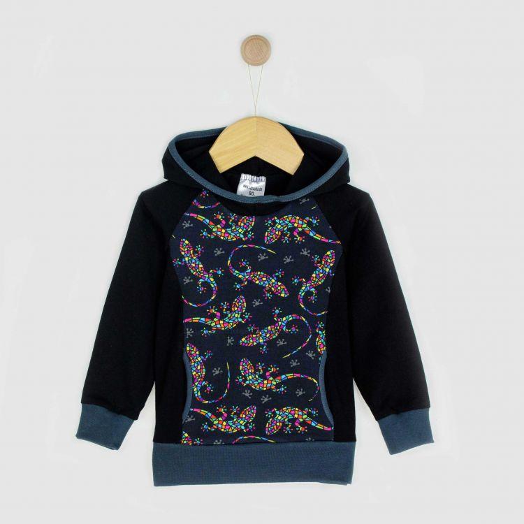 Kids-Hoodie-Shirt - DiamantSalamander-Black