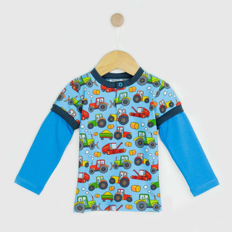 Langarm-T-Shirt BabaubaFarmTractor