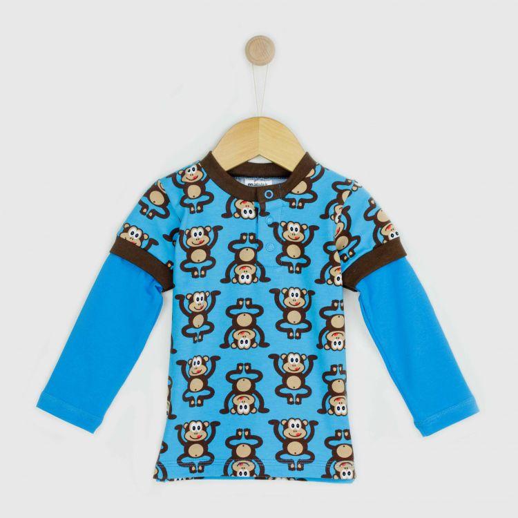Langarm-T-Shirt WildBlueMonkey
