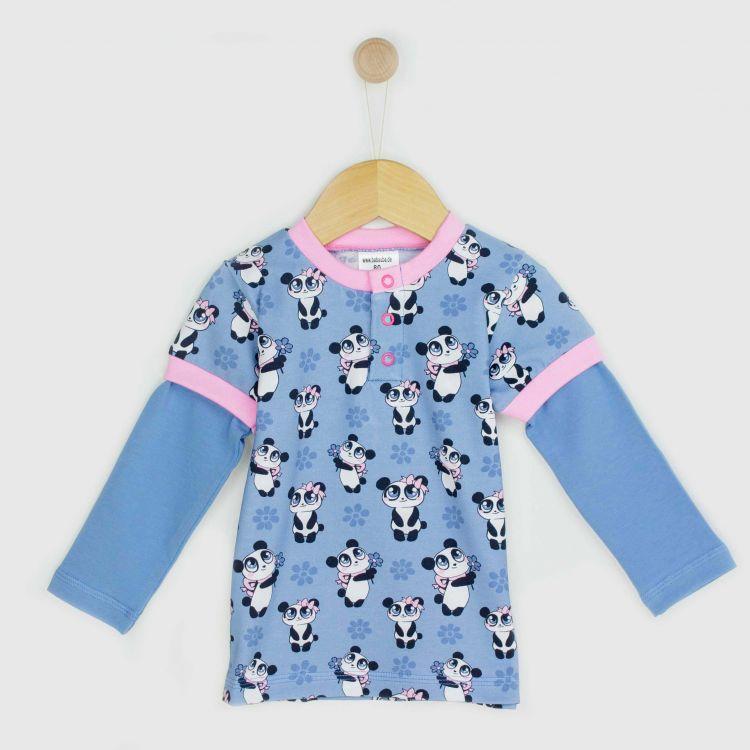 Langarm-T-Shirt GirlyPanda-Grey