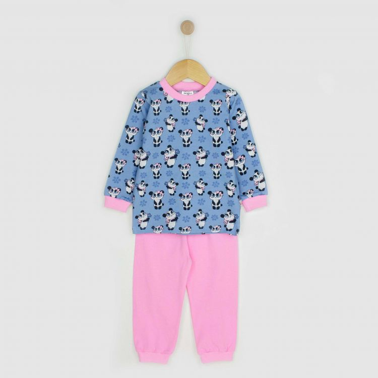 Baby-Pyjama-Set - GirlyPanda-Grey