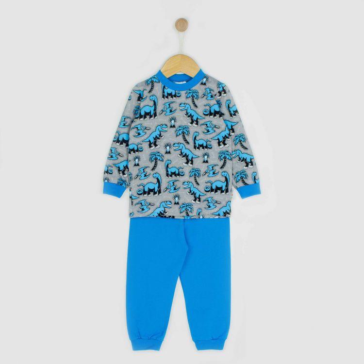 Pyjama-Set Dinos-Bluegrey