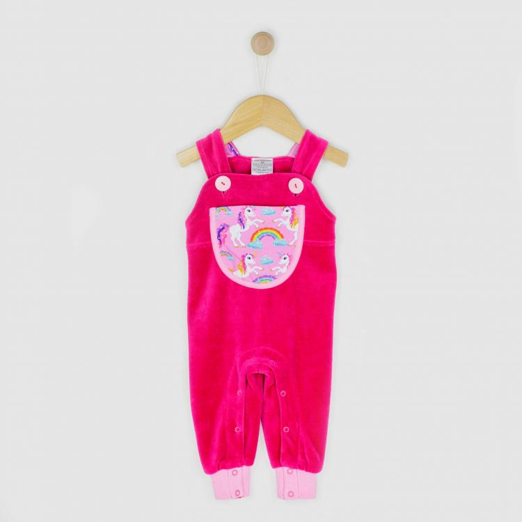 Baby-Velours-Latzhose - SparklingUnicorns