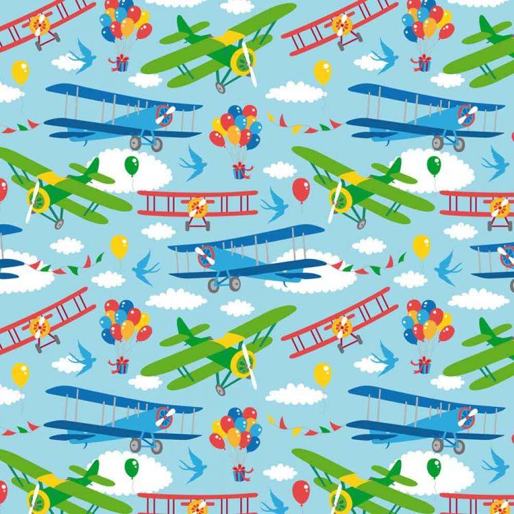 BabaubaStoffe - VintageAirplanes