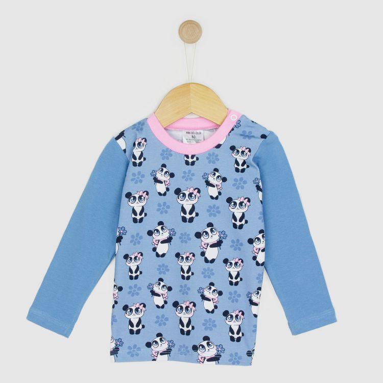 Baby-Langarmshirt - GirlyPanda-Grey