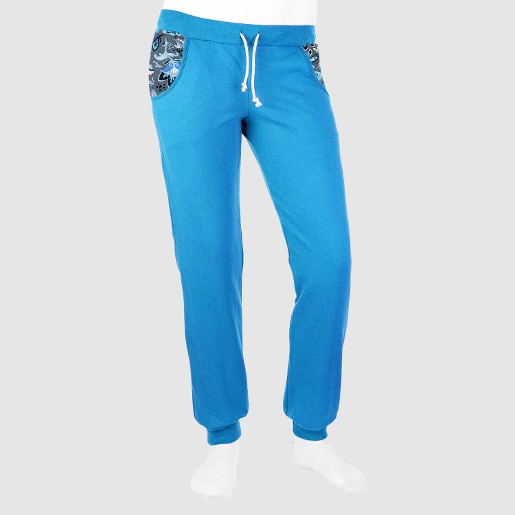 Woman-Jogginghose - PaisleyFlowers-Blue