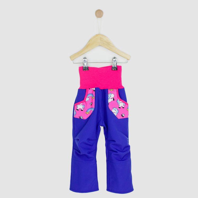 Kids-Softshellhose - ChubbyUnicorns-Pink