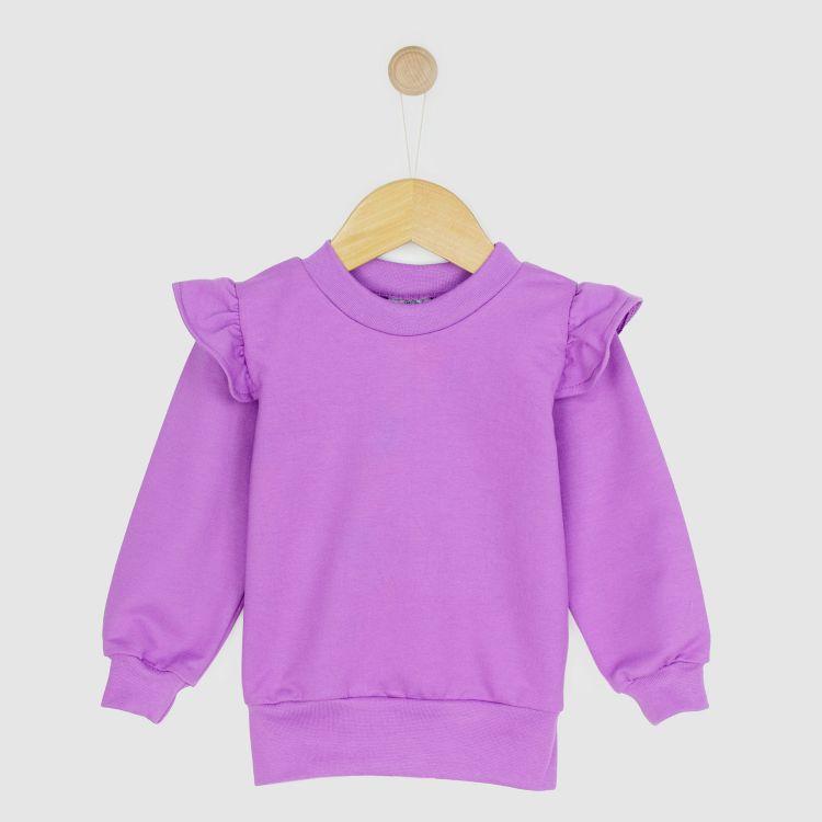Uni-Volantsweater Lavendel