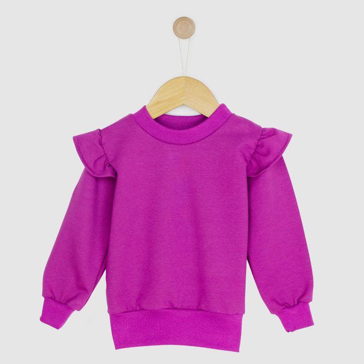 Kids-Uni-Volantsweater - Aubergine