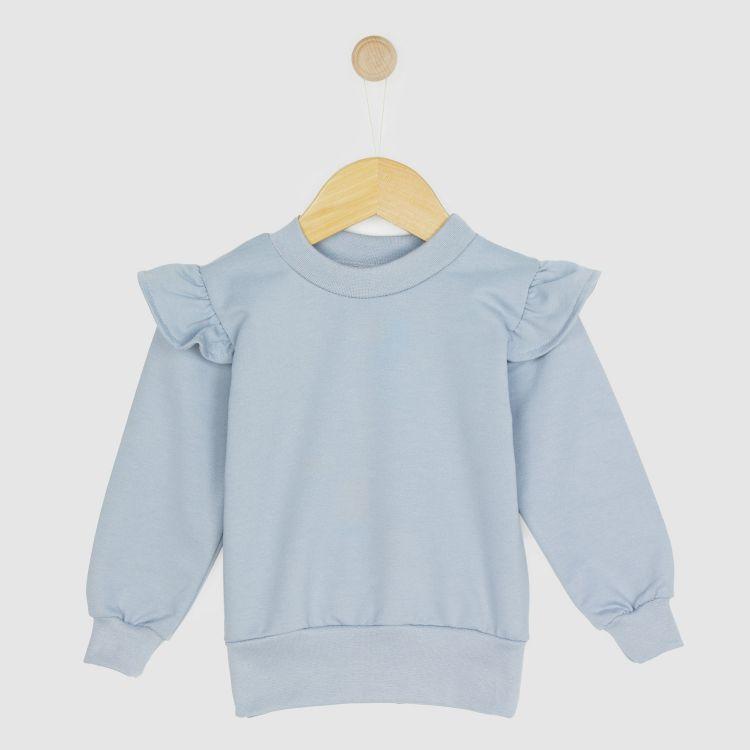 Uni-Volantsweater Grau