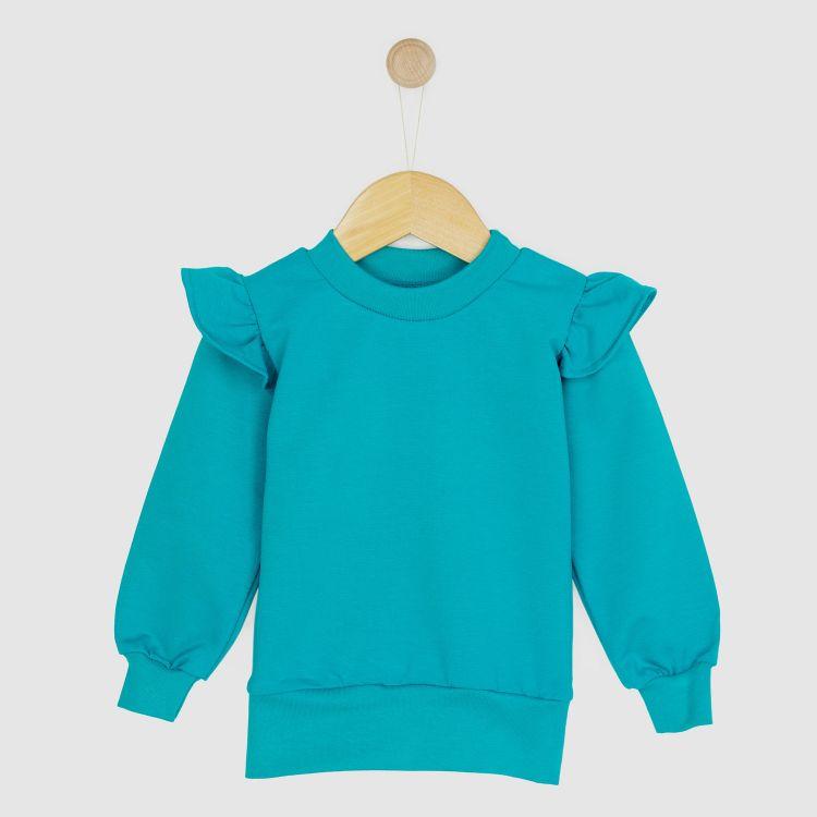 Kids-Uni-Volantsweater - Petrol