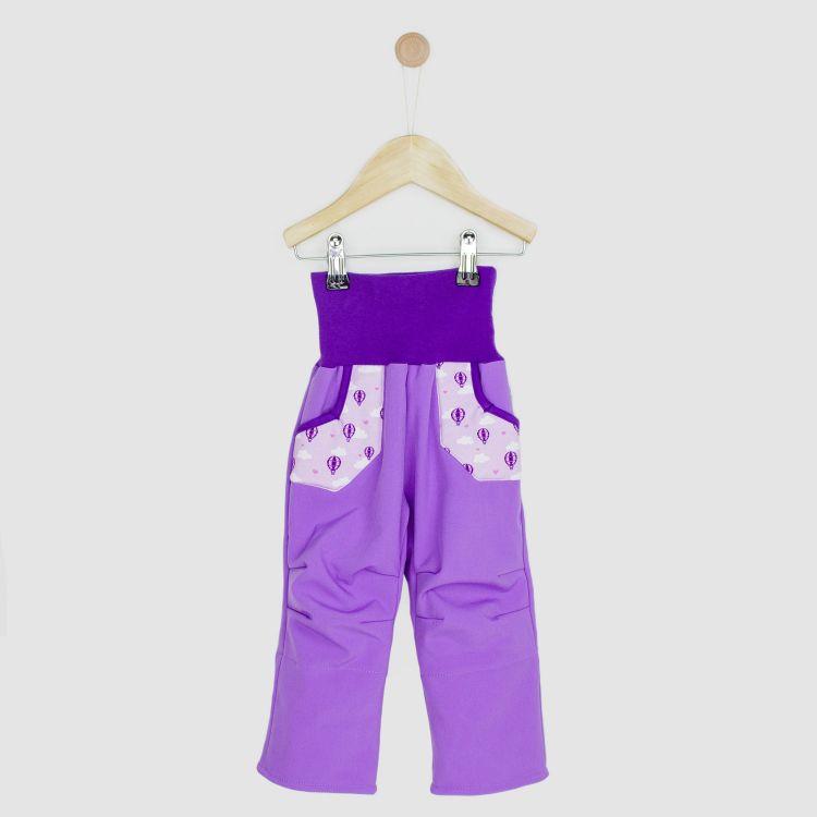 Kids-Softshellhose - LovelyBalloons-Lavendel