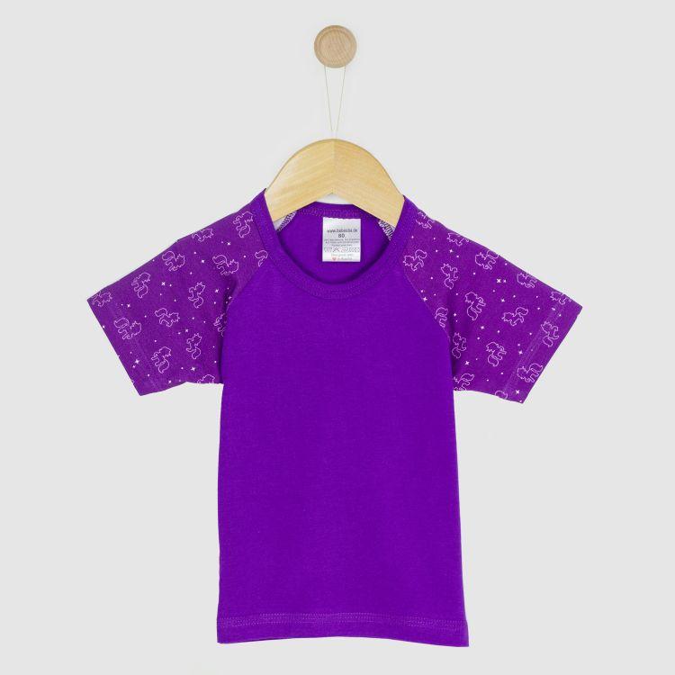 Kurzarm-Raglanshirt PurpleUnicorn