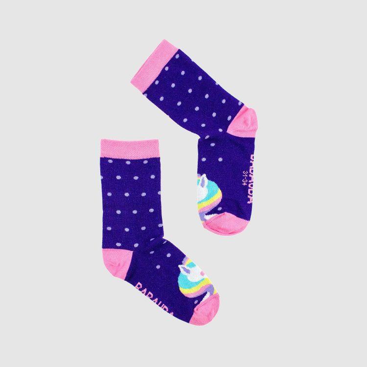 Kids-SockiSocks - GalaxyUnicorns-DotsEdition