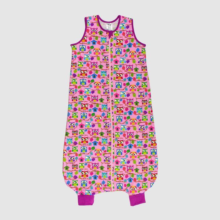 Kids-Füßchenschlafsack einlagig - BabaubaHoots-Pink