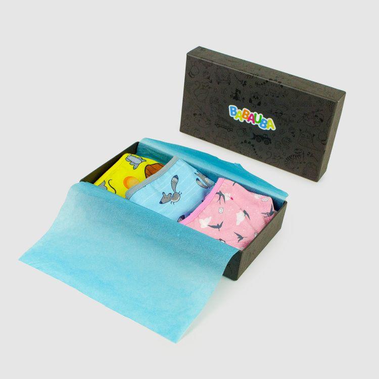 Geschenk 3er Set Kids-Underpants - Swallows-Pink/Foxes/Mäuse