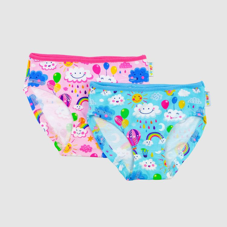 Kids-2er Set Underpants - Rainbows-Blue-BabyblueEdition/Rainbows-Pink