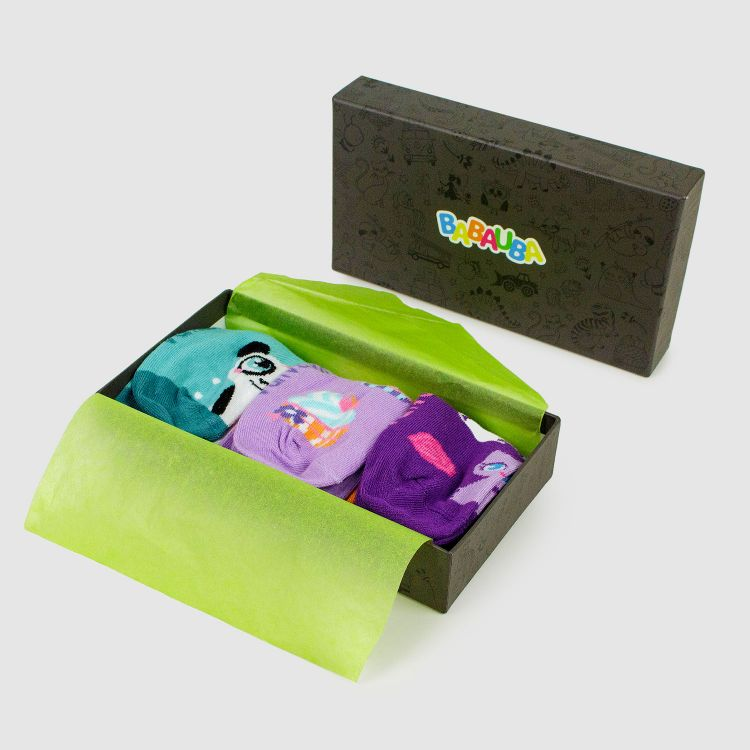 Geschenk 3er Set SockiSocks GirlyPanda-Dots/LovelyCupcakes/LovelyCats 23-26
