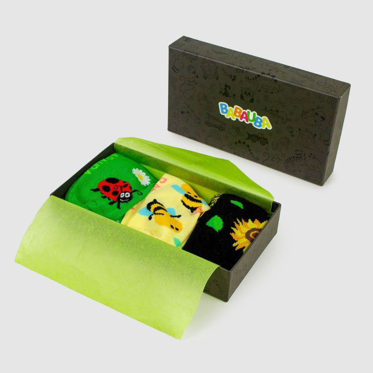 Geschenk 3er Set SockiSocks - Ladybugs/BabyBees/Sunflowers