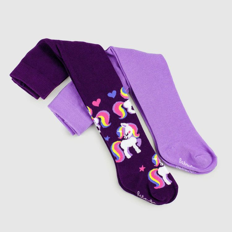 Baby-Strumpfhosen-Set - GalaxyUnicorns/Lavendel