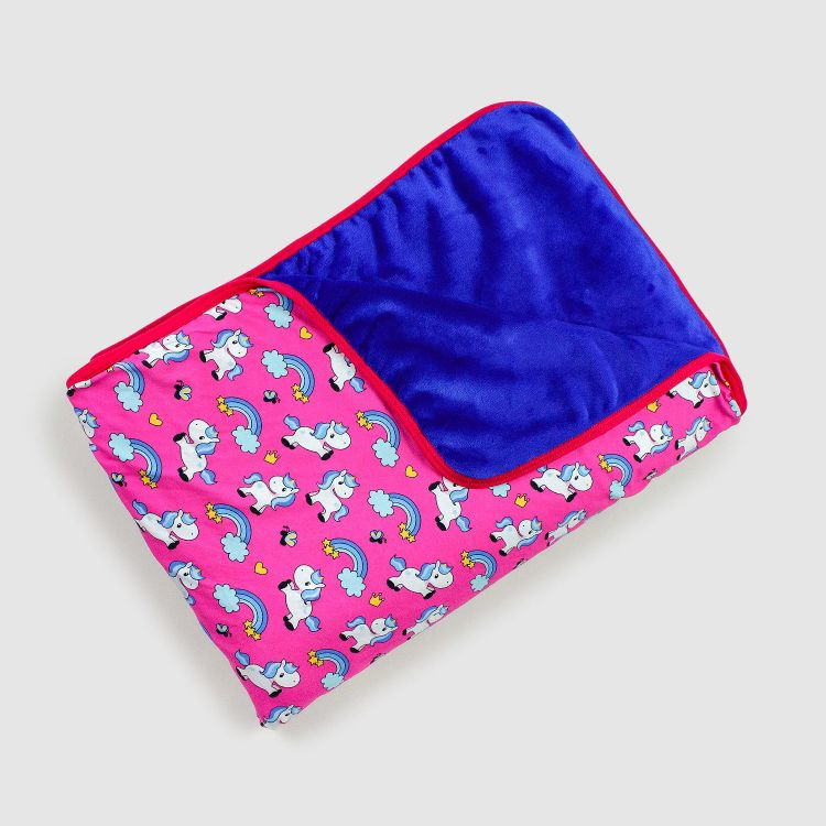 Kuscheldecke SuperXXL - ChubbyUnicorns-Pink-PinkBorderEdition