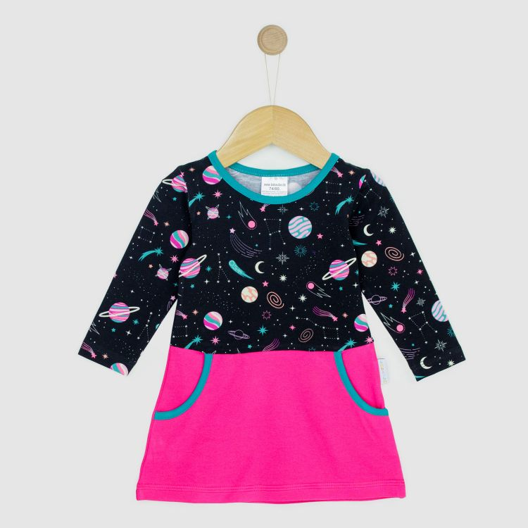 Kids-Langarm-PocketDress - SpaceGirl
