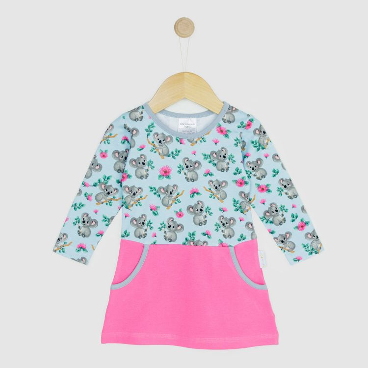 Kids-Langarm-PocketDress - CuteKoalas