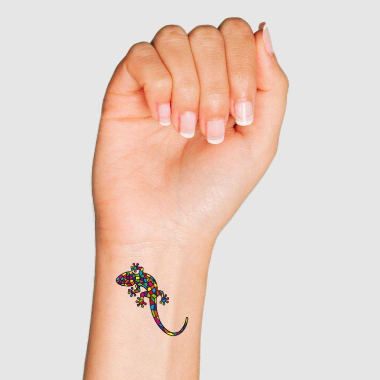 Klebetattoo - DiamantSalamander-Black