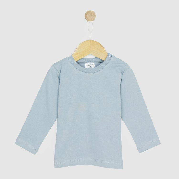 Baby-Uni-Langarmshirt - Grau