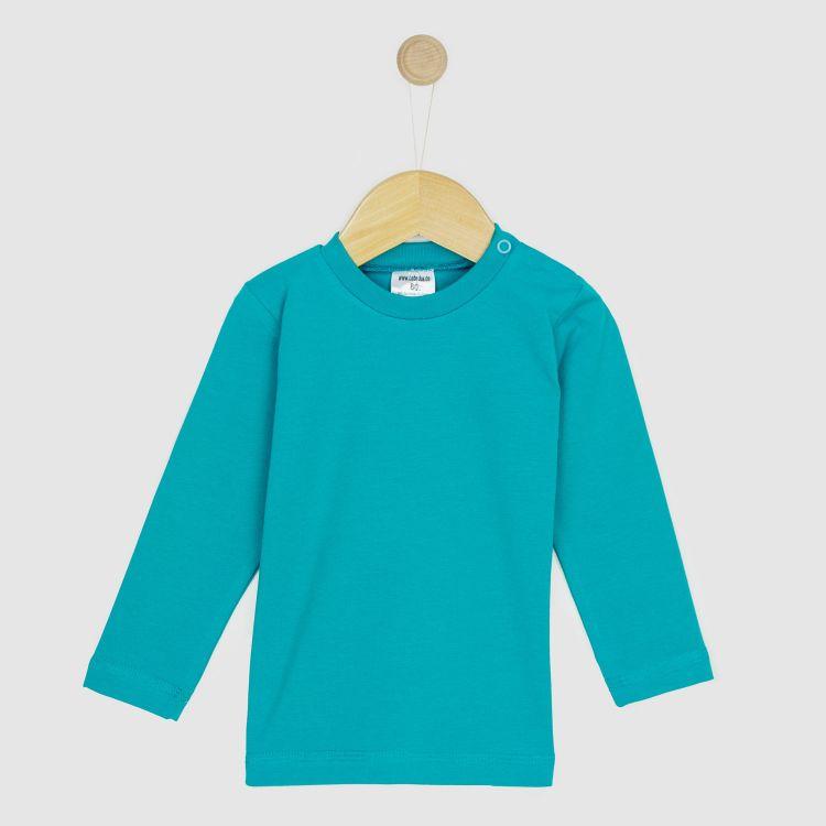 Baby-Uni-Langarmshirt - Petrol