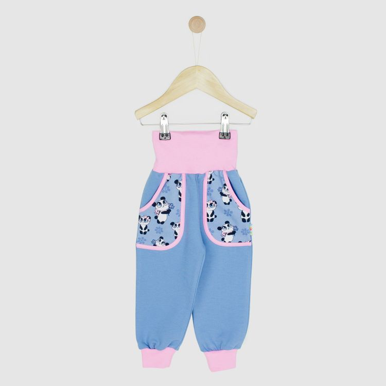 Kids-CoolPocketPants - GirlyPanda-Grey