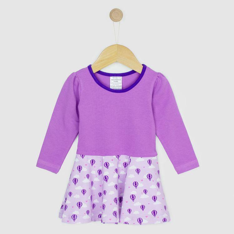 Kids-Langarm-Drehkleidchen - LovelyBalloons-Lavendel