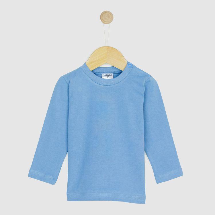 Baby-Uni-Langarmshirt - Rauchblau