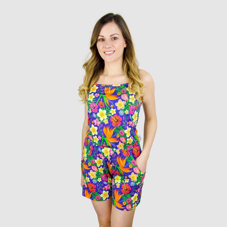 Woman-Short-Jumpsuit - HawaiiFlowers
