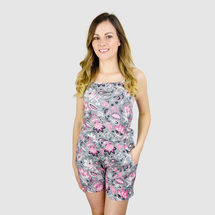 Woman-Short-Jumpsuit - PaisleyFlowers