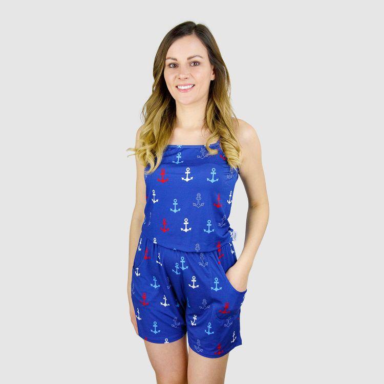 Woman-Short-Jumpsuit - TricoloreAnchors