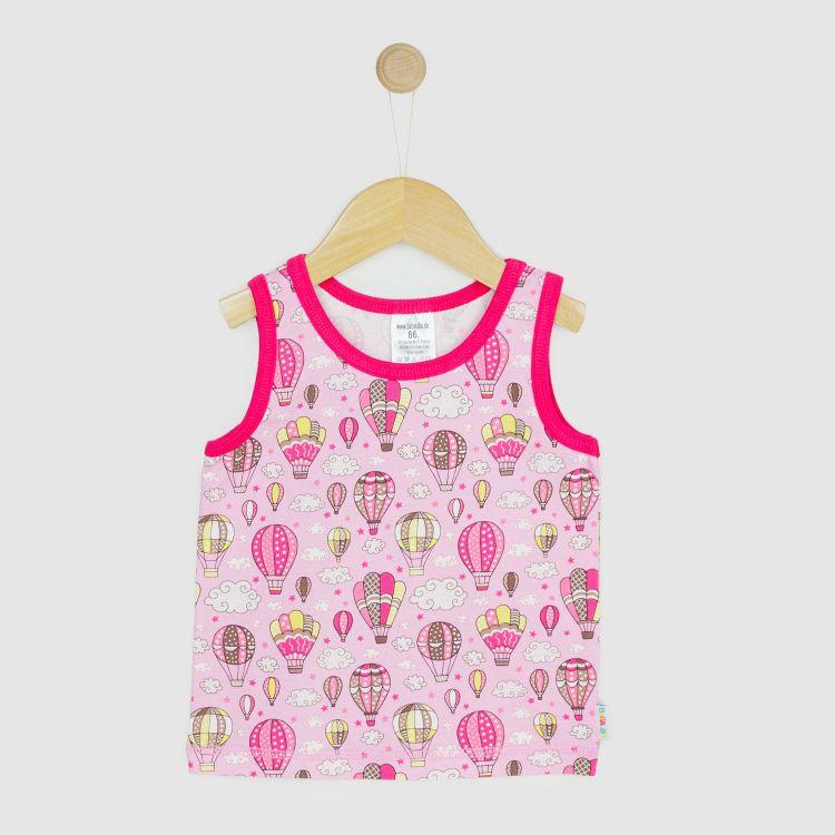 Baby-Tanktop - MontgolfiereBalloons-Pink