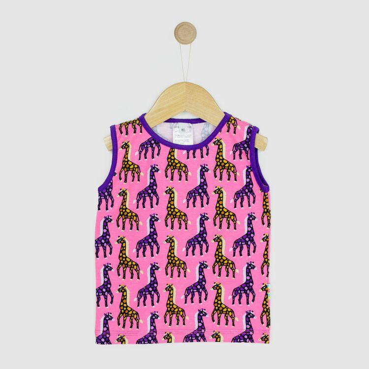 Kids-Tanktop - MosaicGiraffs-Pink