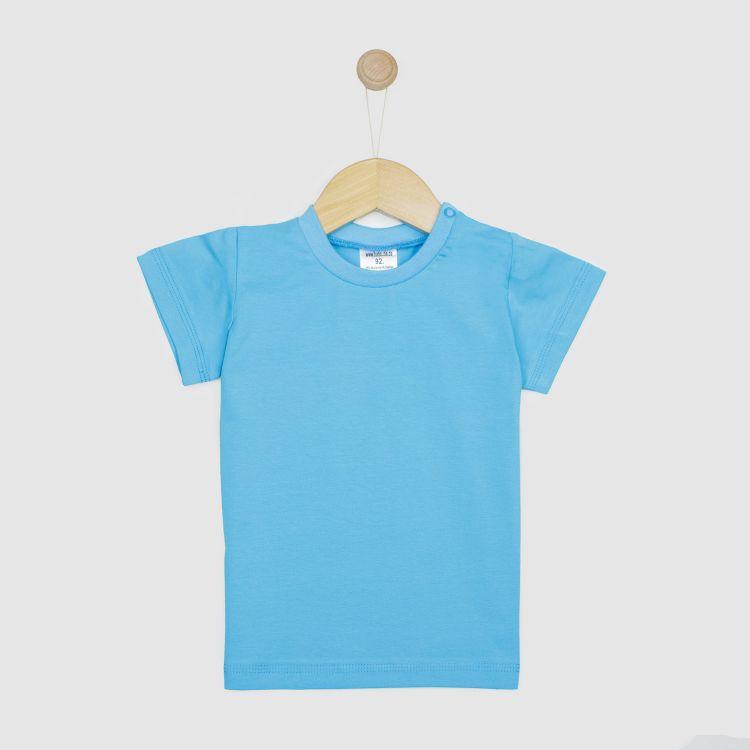 Baby-Uni-T-Shirt - Azurblau