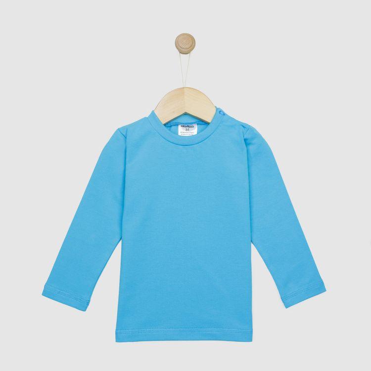 Baby-Uni-Langarmshirt - Azurblau
