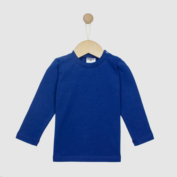 Baby-Uni-Langarmshirt - Dunkelblau