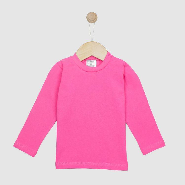 Baby-Uni-Langarmshirt - Rosa