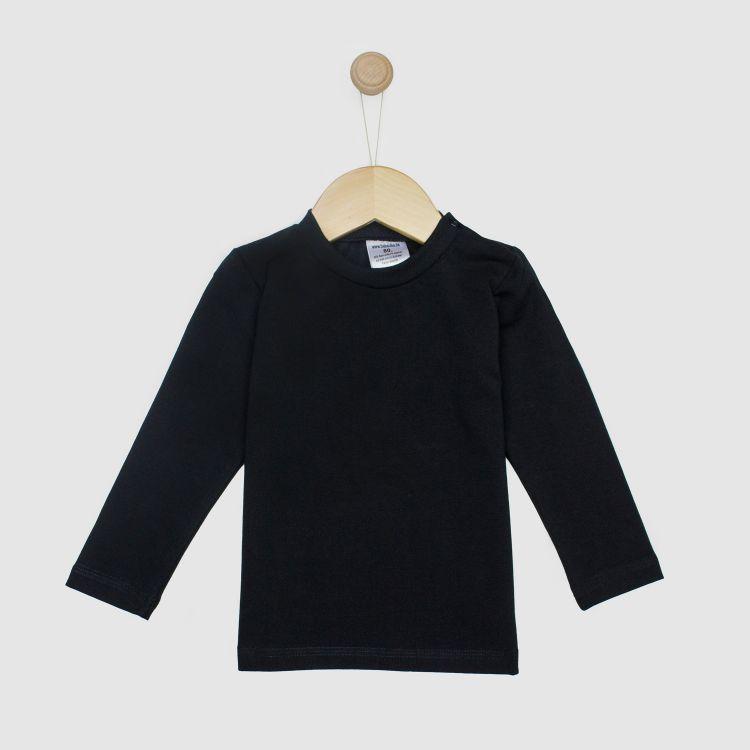 Baby-Uni-Langarmshirt - Schwarz